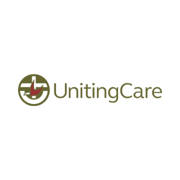 UnitingCare logo featuring a cross and a dove.