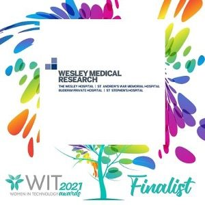 Wesley Medical Research Logo (text on image - Wit 2021 Finalist)